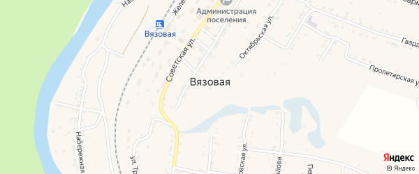 Улица Кононовича на карте поселка Вязовой с номерами домов
