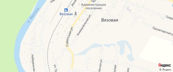 Лесная улица на карте поселка Вязовой с номерами домов