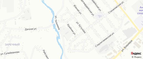 Крайняя улица на карте Белорецка с номерами домов