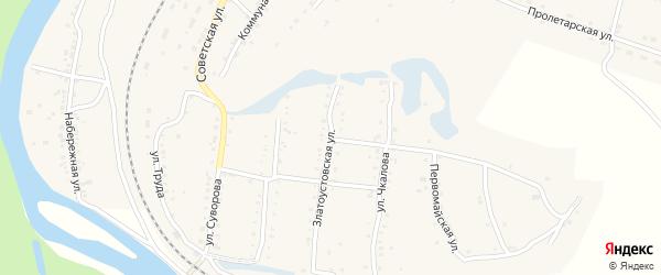 Первомайская улица на карте железнодорожной станции Минки с номерами домов