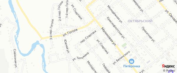 Переулок Спартака на карте Белорецка с номерами домов