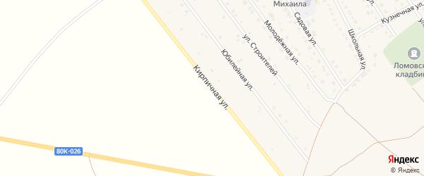 Полевая улица на карте села Ломовка с номерами домов