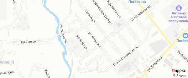 Улица Кутузова на карте Белорецка с номерами домов
