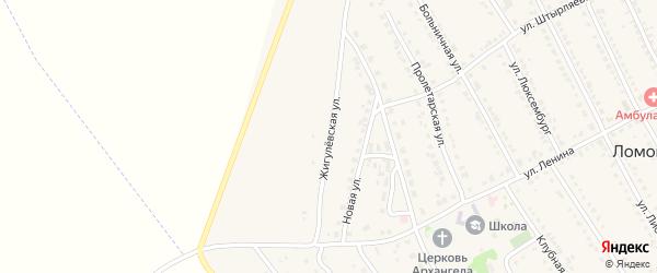 Жигулевская улица на карте села Ломовка с номерами домов