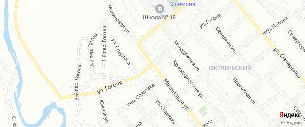 Улица Гоголя на карте Белорецка с номерами домов