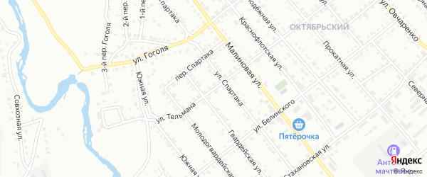 Улица Тельмана на карте Белорецка с номерами домов