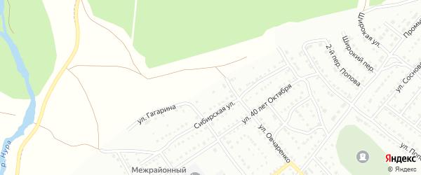 Улица Гагарина на карте Белорецка с номерами домов