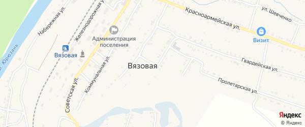 Улица Калинина на карте поселка Вязовой с номерами домов