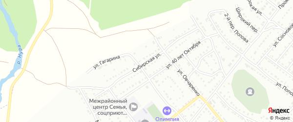 Сибирская улица на карте Белорецка с номерами домов