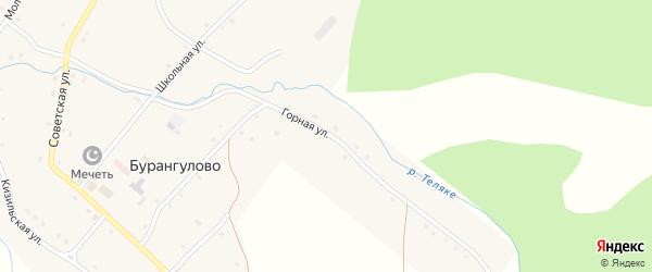 Горная улица на карте села Бурангулово с номерами домов