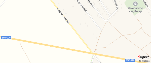 Кирпичная улица на карте села Ломовка с номерами домов