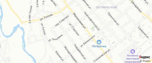 Улица Спартака на карте Белорецка с номерами домов
