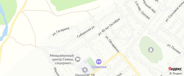 Улица 40 лет Октября на карте Белорецка с номерами домов