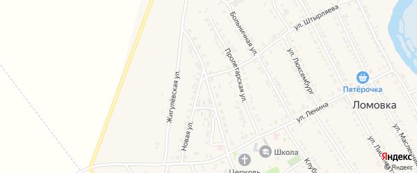 Улица Лесозаготовителей на карте села Ломовка с номерами домов