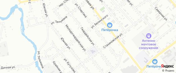Гвардейская улица на карте Белорецка с номерами домов
