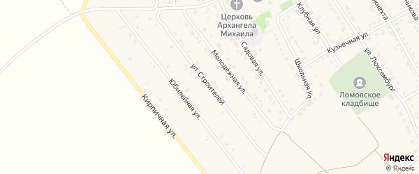 Улица Строителей на карте села Ломовка с номерами домов