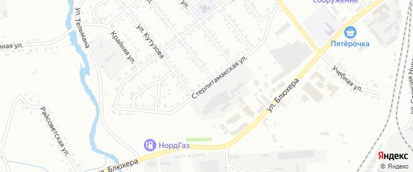 Стерлитамакская улица на карте Белорецка с номерами домов