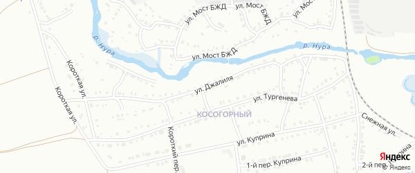Улица Мусы Джалиля на карте Белорецка с номерами домов