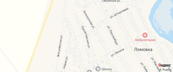 Пролетарская улица на карте села Ломовка с номерами домов