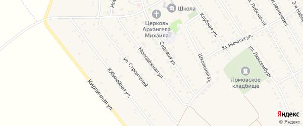 Молодежная улица на карте села Ломовка с номерами домов