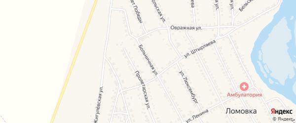 Больничная улица на карте села Ломовка с номерами домов
