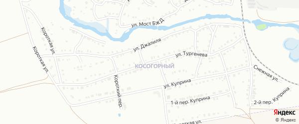 Улица Тургенева на карте Белорецка с номерами домов