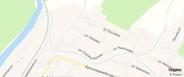Улица Чапаева на карте поселка Вязовой с номерами домов