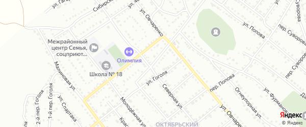 Товарищеская улица на карте Белорецка с номерами домов