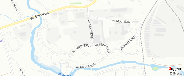 Улица Мост БЖД на карте Белорецка с номерами домов