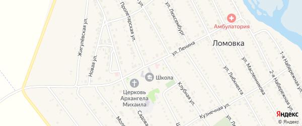 Улица Ленина на карте села Ломовка с номерами домов