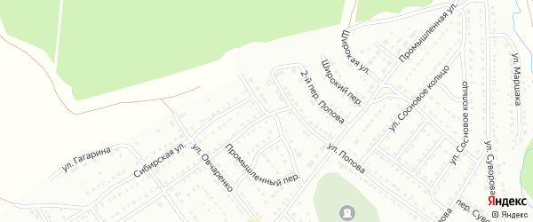 Промышленный переулок на карте Белорецка с номерами домов