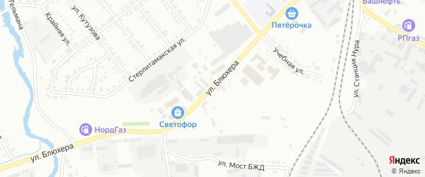 Улица Блюхера на карте Белорецка с номерами домов