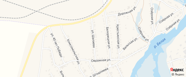 Улица Шалаева на карте села Ломовка с номерами домов