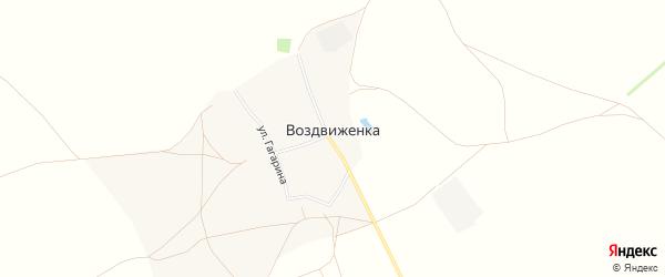 Карта деревни Воздвиженки в Башкортостане с улицами и номерами домов