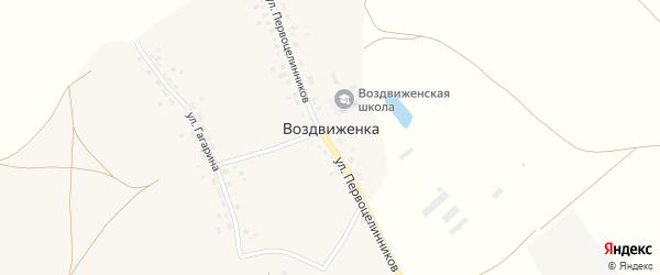 Советская улица на карте деревни Воздвиженки с номерами домов