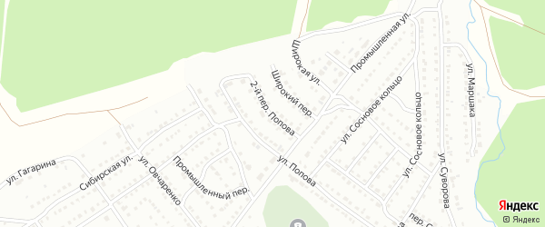 Попова 2-й переулок на карте Белорецка с номерами домов