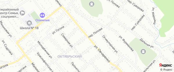 Улица Овчаренко на карте Белорецка с номерами домов