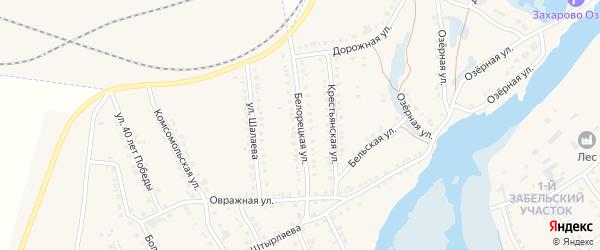 Белорецкая улица на карте села Ломовка с номерами домов