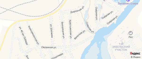 Крестьянская улица на карте села Ломовка с номерами домов