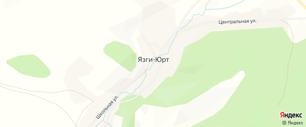 Карта деревни Язг-Юрт в Башкортостане с улицами и номерами домов