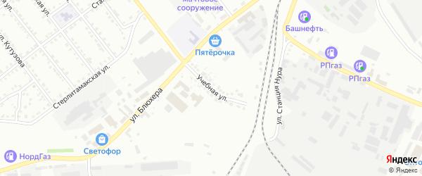 Учебная улица на карте Белорецка с номерами домов