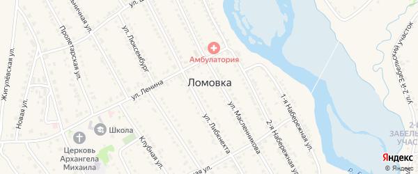 Улица Пугачевский Карьер на карте села Ломовка с номерами домов