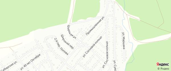 Промышленная улица на карте Белорецка с номерами домов