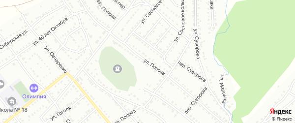 Улица Попова на карте Белорецка с номерами домов