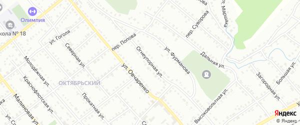 Огнеупорная улица на карте Белорецка с номерами домов