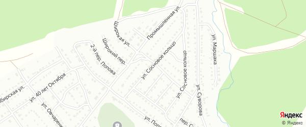 Улица Сосновое Кольцо на карте Белорецка с номерами домов