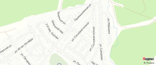 Широкая улица на карте Белорецка с номерами домов