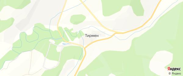 Карта деревни Тирмена в Башкортостане с улицами и номерами домов