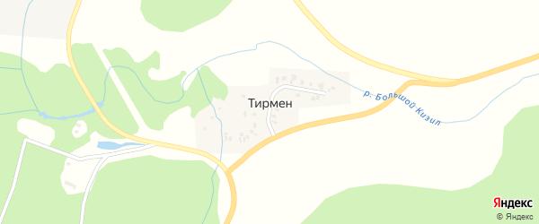 Центральная улица на карте деревни Тирмена с номерами домов