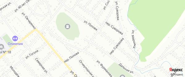 Переулок Попова на карте Белорецка с номерами домов